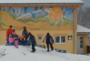 igre na snegu a