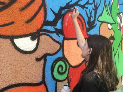 oslikavanje murala (2)