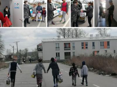 Najugroženijim porodicama iz Zemuna i Novog Beograda, podeljeni paketi pomoći