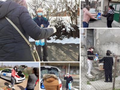 Najugroženije porodice iz Niša, dobile pakete pomoći