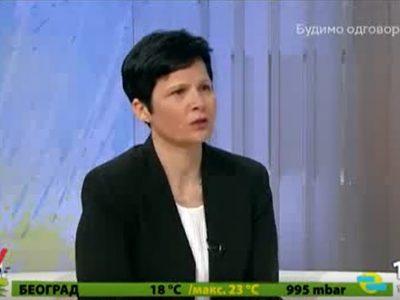 Vesna Jokanović Mraković, nacionalni direktor Fondacije SOS Dečija sela Srbija, gostovanje na TV RTS1, jutarnji program